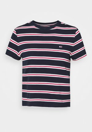 REGULAR CONTRAST BABY TEE - T-shirts med print - twilight navy
