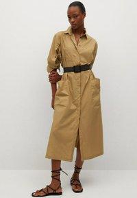 Mango - BELINDA - Košilové šaty - mellembrun - 0
