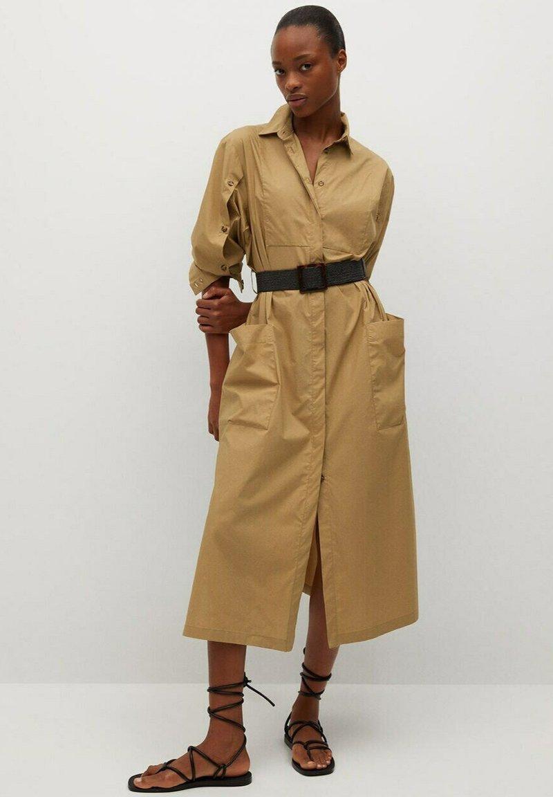 Mango - BELINDA - Košilové šaty - mellembrun