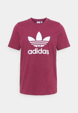 TREFOIL T-SHIRT ORIGINALS ADICOLOR - Print T-shirt - victory crimson/white