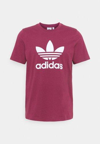 TREFOIL T-SHIRT ORIGINALS ADICOLOR - T-shirt con stampa - victory crimson/white