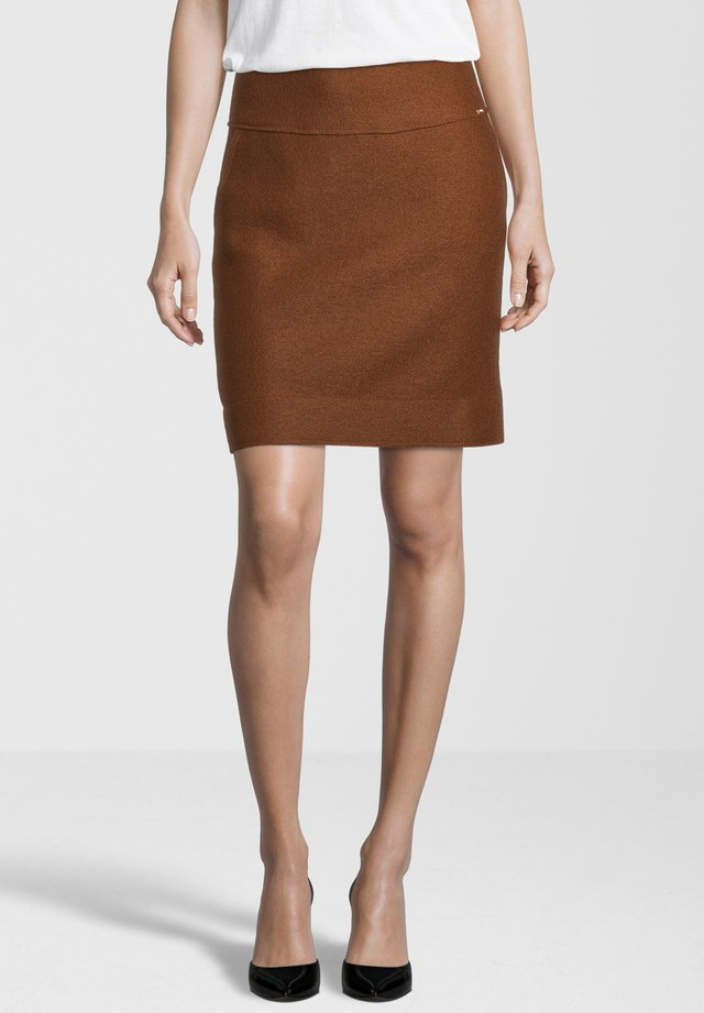 CICLEAN - Mini skirt - cognac