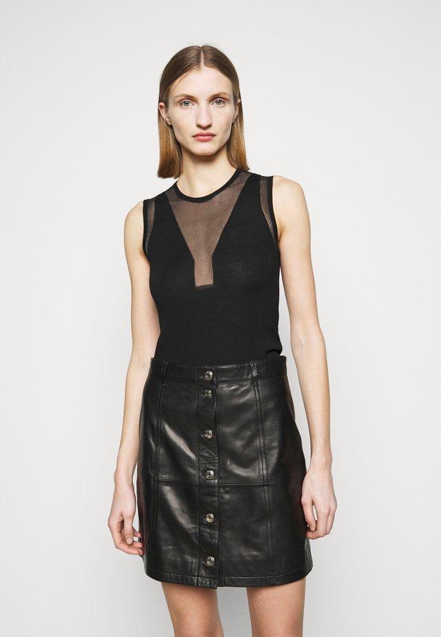 PLAYOFFMAGLIA INTARSIO - Pullover - black