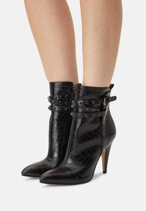 JESSIA - High heeled ankle boots - black