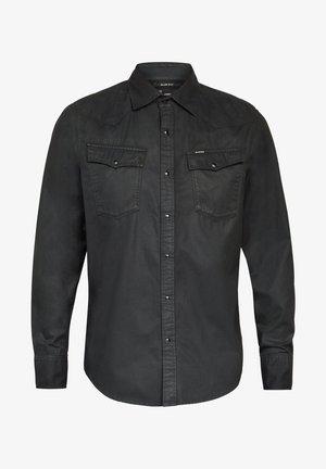 3301 SLIM LONG SLEEVE - Shirt - dk black cobler