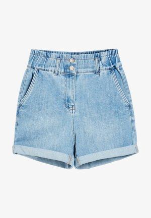 ELASTICATED WAIST - Jeansshort - blue