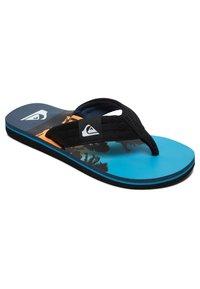 Quiksilver - MOLOKAI LAYBACK  - T-bar sandals - black/blue/blue - 2