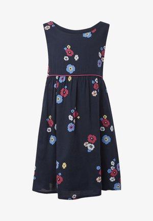 MIT BLUMENMUSTER - Korte jurk - black iris blue