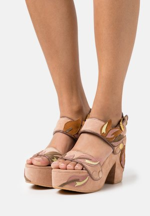 GALY FLORAL - Sandalias con plataforma - light/pastel