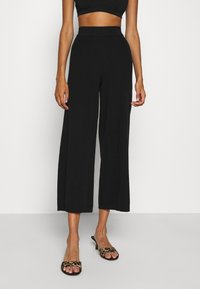 ONLY - ONLLINA CULOTTE PANT - Trousers - black - 0