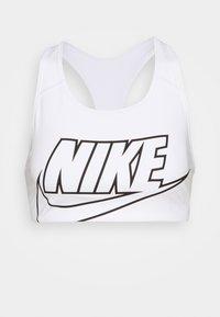Nike Performance - FUTURA BRA - Medium support sports bra - white/black - 5
