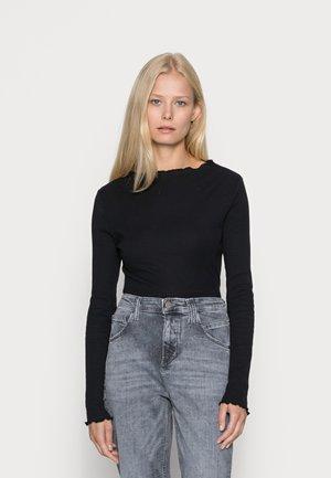 LONGSLEEVE - Long sleeved top - black