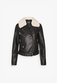 ONLHADLEY BIKER - Faux leather jacket - black