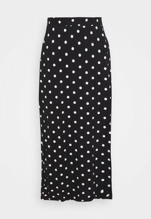 Pencil skirt - black/white