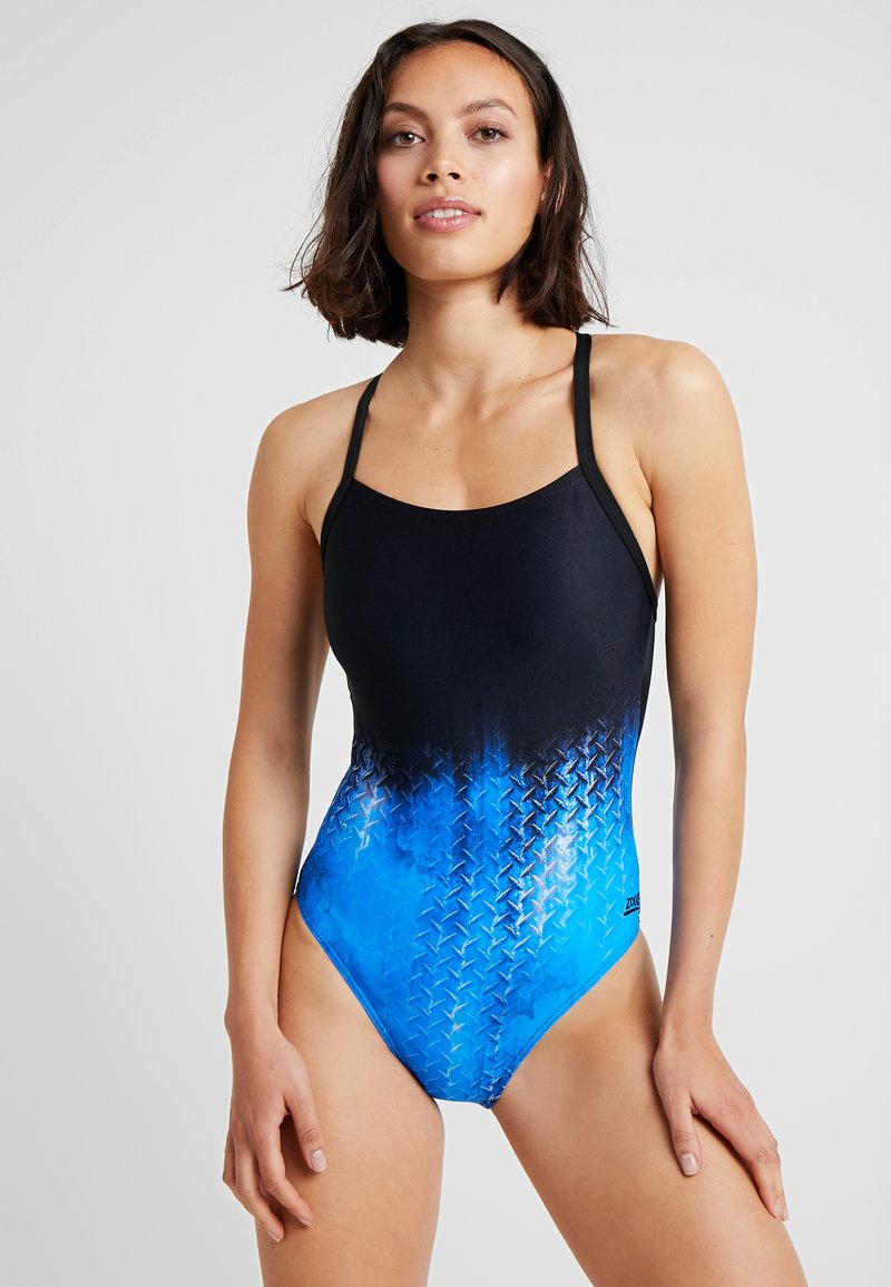 Zoggs - IRONY T BACK - Swimsuit - black/blue