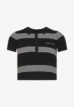 JESSICA - Print T-shirt - black/white