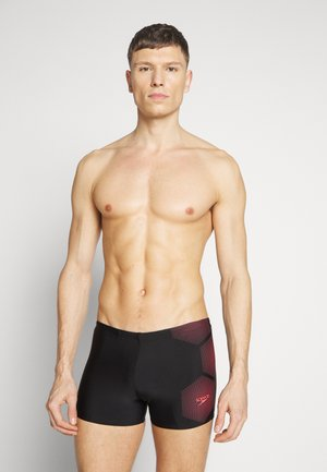 TECH LOGO - Swimming trunks - tech black/psycho red