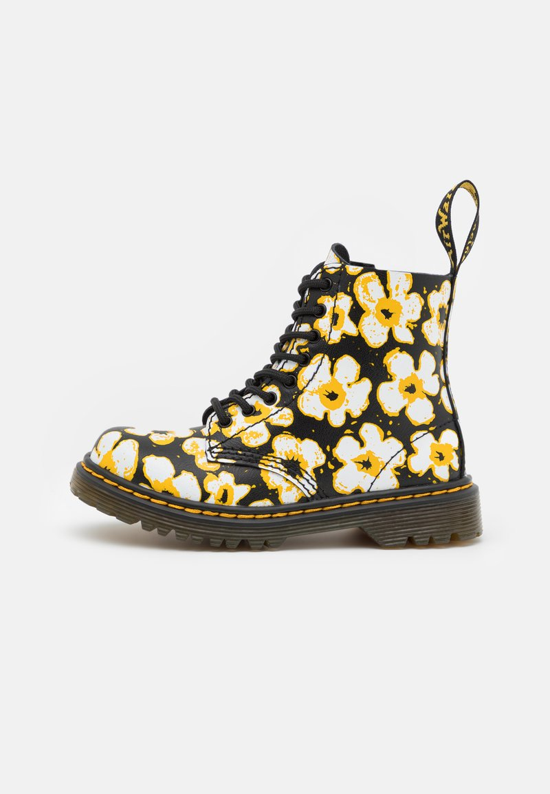 Dr. Martens - 1460 PASCAL - Veterboots - black/yellow fayre/lamper