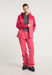 PYUA - Waterproof jacket - jalapeno red - paradise pink - 1