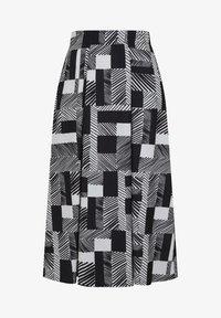 black white striped geo