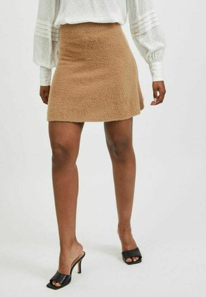 VIHELLY SKATER - A-line skirt - tigers eye