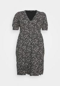 MONO SPOT WRAP DRESS - Day dress - black