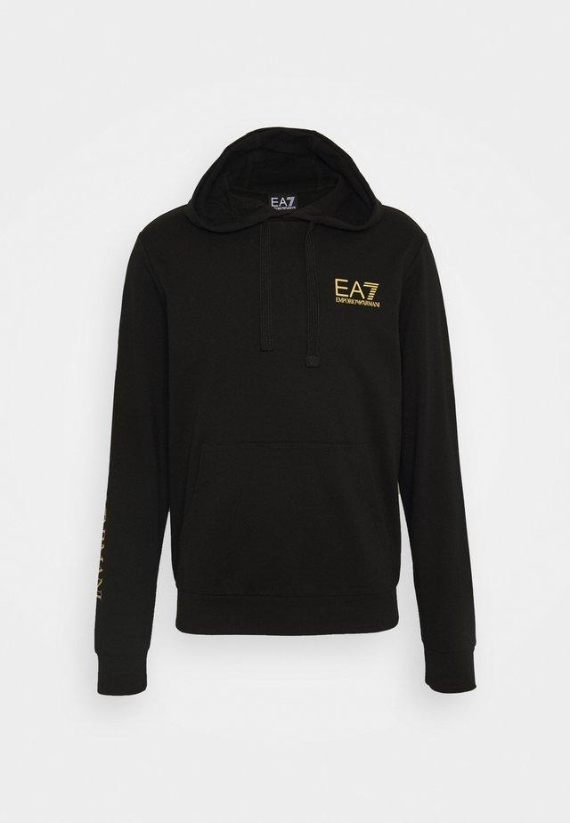 Bluza z kapturem - black/gold
