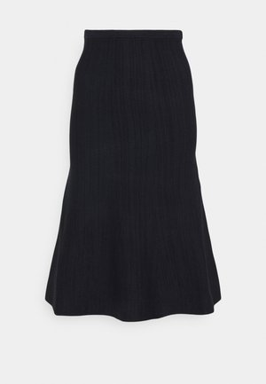 KNIT SKIRT - Áčková sukně - navy melange/black
