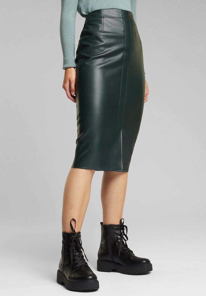 Esprit - Pencil skirt - dark green