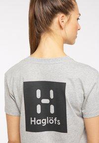 Haglöfs - Print T-shirt - grey melange - 3