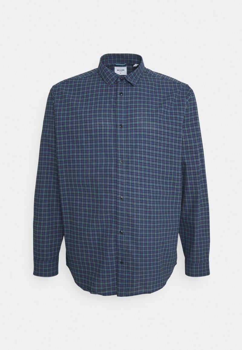 Only & Sons - ONSTONY CHECK PLUS SIZE - Camicia - dress blues