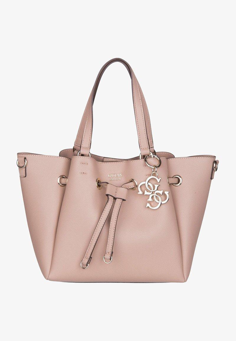 Guess - DIGITAL DRAWSTRING BAG - Handbag - dark nude