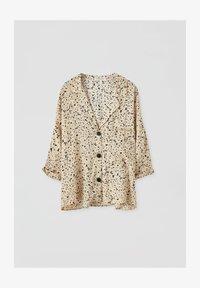 PULL&BEAR - Button-down blouse - beige - 4