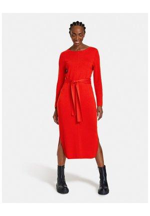 Jumper dress - chili