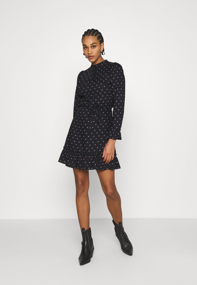 DITSY SMOCK DRESS - Korte jurk - black