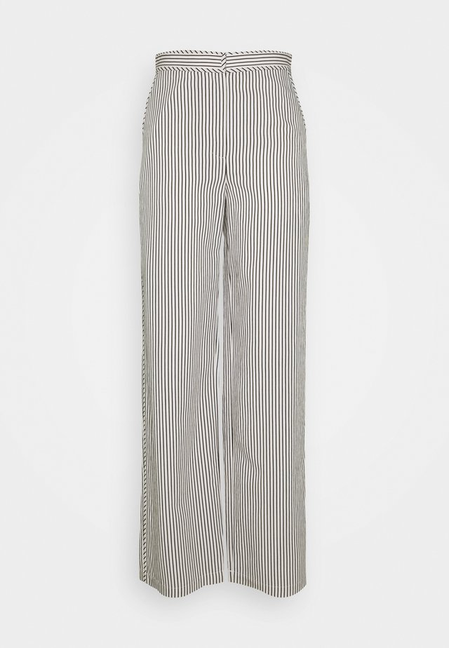 STRIPED PAJAMA PANT - Kalhoty - optic white/cream/black