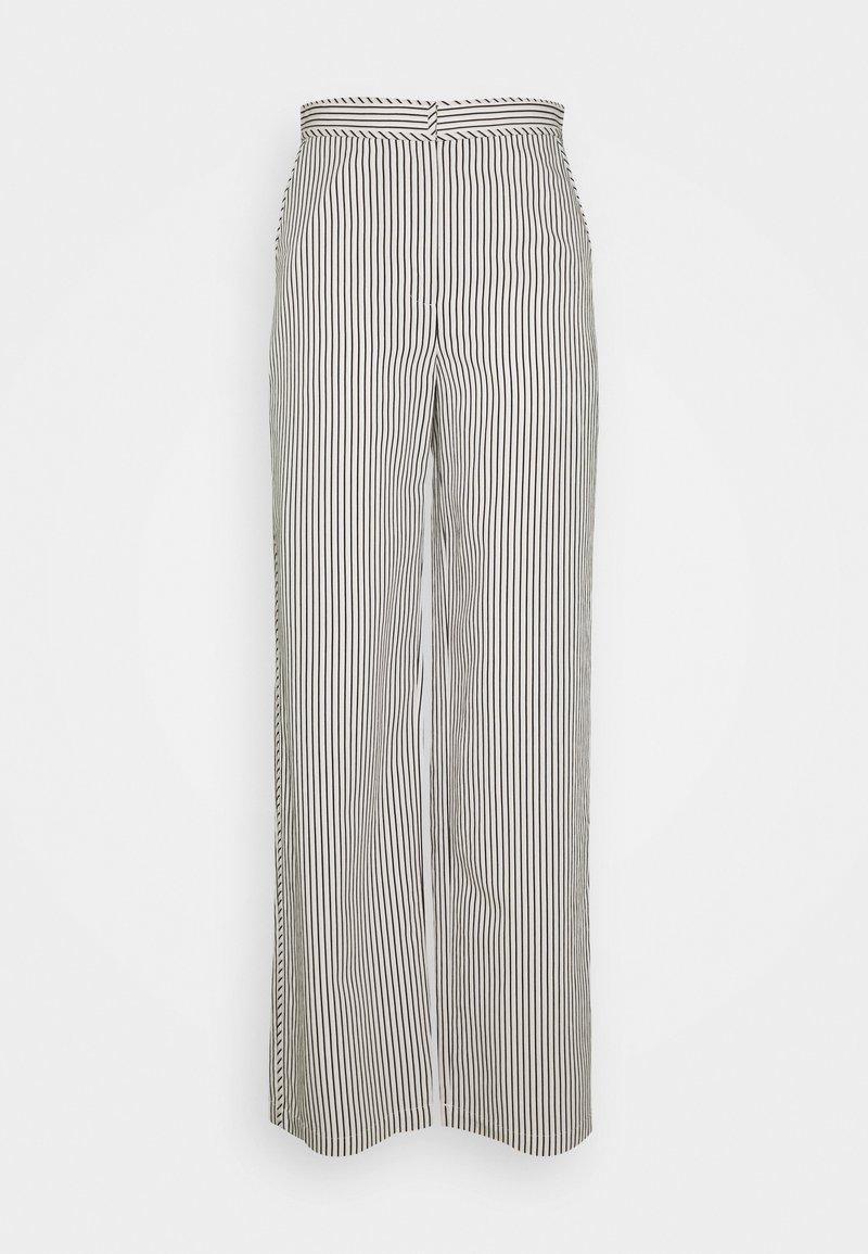Proenza Schouler White Label - STRIPED PAJAMA PANT - Kalhoty - optic white/cream/black