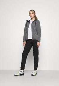 Campagnolo - WOMAN JACKET FIX HOOD - Fleece jacket - ghiaccio/graffite/nero - 1