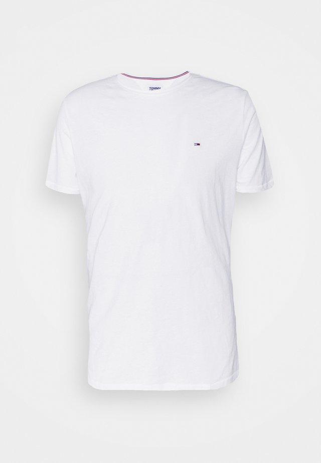 SLIM JASPE C NECK - Jednoduché triko - white