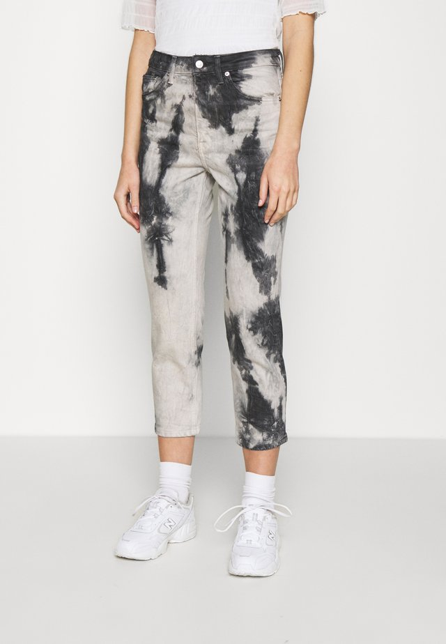 TIEDYE - Džíny Relaxed Fit - black