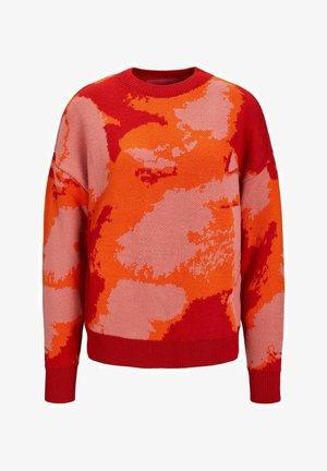 Stickad tröja - red orange