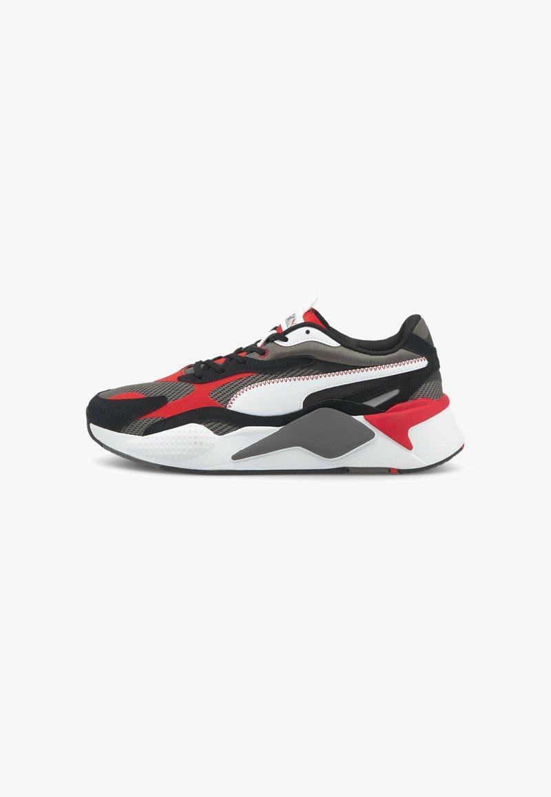 Puma - TWILL AIRMESH - Trainers - castlerock-poppy red