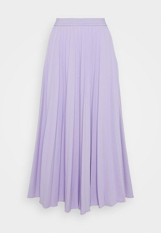 DAFFODIL PLEATED MIDI SKIRT - A-line skirt - pastel lilac