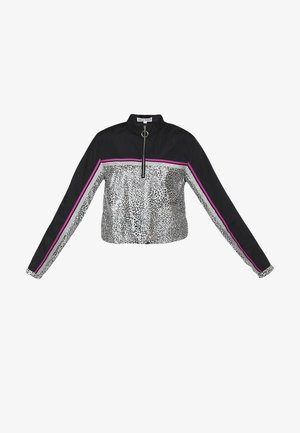 Light jacket - schwarz silber leo