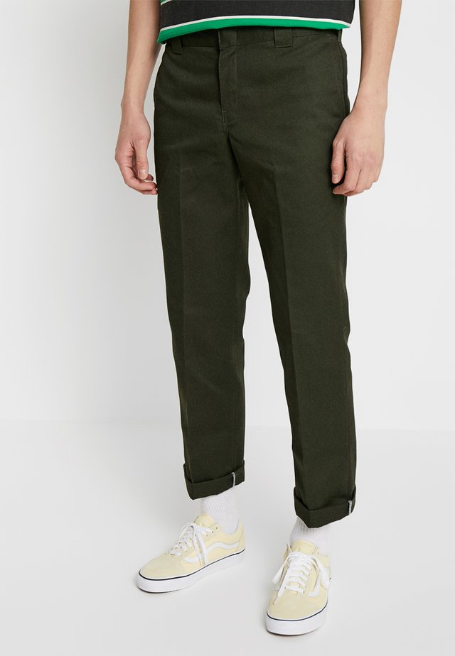 873 SLIM STRAIGHT WORK PANT - Pantaloni - olive green