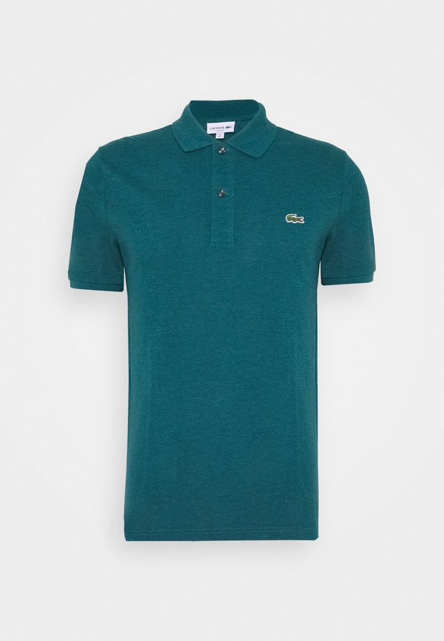 Polo - mottled teal