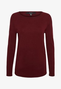Vero Moda - VMNELLIE GLORY LONG  - Jumper - cabernet - 4