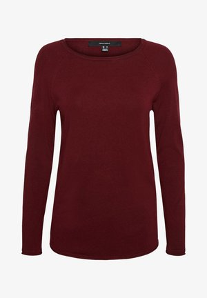 VMNELLIE GLORY LONG  - Jumper - cabernet