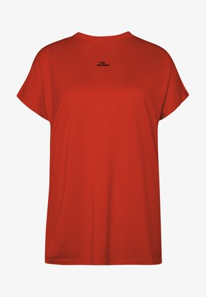 Basic T-shirt - poinciana red