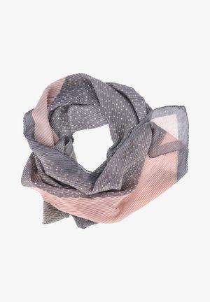 PLISSEE - Scarf - grau - rosa